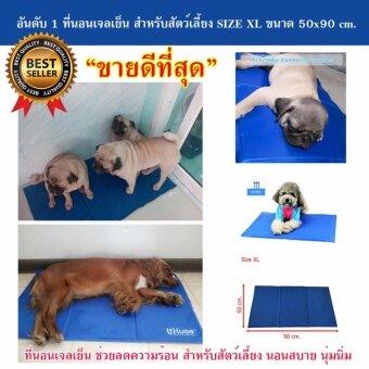 ที่นอนเจลเย็นหมา แผ่นเจลรองนอนหมา แผ่นเจลเย็นสุนัข ที่นอนเจลเย็นสำหรับสุนัข (Size XL 50x90 cm.)