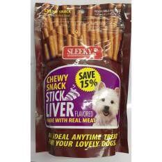 ซื้อ Sleeky Chewy ขนมแท่ง สำหรับสุนัข รสตับ ขนาดถุงละ 175กรัม 3 Units Unbranded Generic เป็นต้นฉบับ