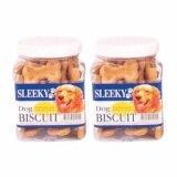 ราคา Sleeky Dog Biscuit Chicken Flavor Dog Treat 340G 2 Units สลิคกี้ บิสกิต อาหาร ขนม สุนัข ชนิดแท่ง รูปกระดูก รสไก่ 340 กรัม 2 กล่อง Sleeky เป็นต้นฉบับ
