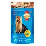โปรโมชั่น Smartheart Dog Pouch Chicken In Gravy สุนัขโต รสเนื้อไก่ชิ้นในน้ำซอส 130G 7 Units
