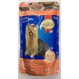 ส่วนลด สินค้า Smartheart Pouch สุนัขโต รสปลาแซลมอนในน้ำซอส 130G 12 Units