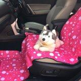 ส่วนลด เบาะคลุมรถยนต์สำหรับสุนัข แผ่นรองกันเปื้อนสำหรับสุนัขในรถยนต์ แผ่นรองกันเปื้อนเบาะรถยนต์สำหรับสุนัข สำหรับเบาะหน้า สีชมพู ลายฟองสบู่