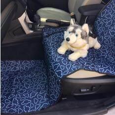 โปรโมชั่น เบาะคลุมรถยนต์สำหรับสุนัข แผ่นรองกันเปื้อนสำหรับสุนัขในรถยนต์ แผ่นรองกันเปื้อนเบาะรถยนต์สำหรับสุนัข สำหรับเบาะหน้า สีกรมท่า ลายเมฆ ถูก