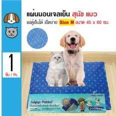 Sukina Petto ที่นอนเจลเย็น แผ่นรองเย็น ช่วยคลายร้อน ทนรอยขีดข่วนได้ดี สำหรับสุนัขและแมว Size M ขนาด 45X60 ซม ถูก