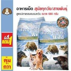 ขาย Taste Of The Wild อาหารเม็ดสุนัข สูตรปลาแซลมอนรมควัน บำรุงขนและผิวหนัง สำหรับสุนัขทุกวัย ทุกสายพันธุ์ ขนาด 680 กรัม ซื้อ 1 แถม 1 ถูก กรุงเทพมหานคร