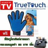 ราคา ทรูทัช ถุงมือแปรงขนสัตว์ True Touch Five Finger Deshedding Glove สีน้ำเงิน ฟรีจุกเสียบมือถือลายแมวคละแบบ 1ชิ้น Telecorsa เป็นต้นฉบับ