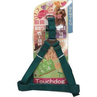 Touchdog รัดใต้อกไนลอนสีเขียว Size M (15mm)