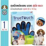 ขาย True Touch ถุงมือแปรงขนสัตว์เลี้ยง นวดขนส่วนที่เกินออก ถุงมือลอกขน สำหรับสุนัขและแมว ขนาด 23X16 ซม None ถูก