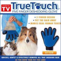 True Touch Pet Glove C แปรงขนสัตว์เลี้ยง หวีขนหมาและขนแมว แปรงขนสุนัข By Vip.