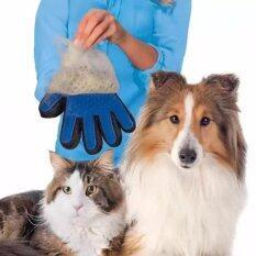 โปรโมชั่น True Touch อุปกรณ์แปรงขนสัตว์เลี้ยง True Touch หวีขนหมาและขนแมว ถุงมือกรูมมิ่ง อุปกรณ์แปรงขนสุนัข ถูก