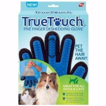 TRUETOUCH ถุงมือสำหรับกำจัดขนแมว ขนสุนัข รุ่น TRUETOUCH-001 สีน้ำเงิน-