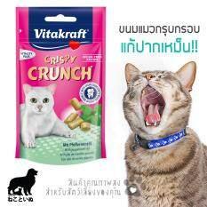 ราคา Vitakraft ขนมแมวรสมิ้น แก้ปากเหม็น สูตรไร้น้ำตาล