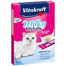 Vitakraft Milky Melody Milk Cream Pure ขนม ครีมนมแมวเลีย บรรจุ 7 ซอง 70G 3 Units เป็นต้นฉบับ