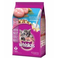 ราคา Whiskas Kitten Ocean Fish Flavor With Milk 1 1Kg วิสกัส อาหารสูตรลูกแมว อายุ 2 12 เดือน ขนาด 1 1 กิโลกรัม ใหม่ล่าสุด
