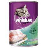 ราคา Whiskas Tuna วิสกัส อาหารเปียกแมว แบบกระป๋อง รสปลาทูน่า ขนาด 400กรัม 3กระป๋อง