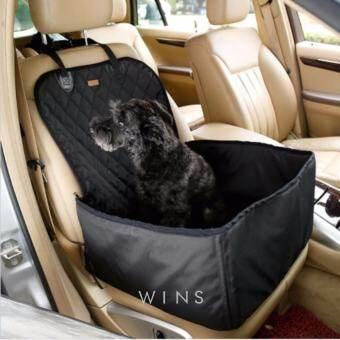 WINS แผ่นรองเบาะหน้ารถกันเปื้อนแบบหนาสำหรับสุนัขและสัตว์เลี้ยงพับเก็บได้/สีดำ-