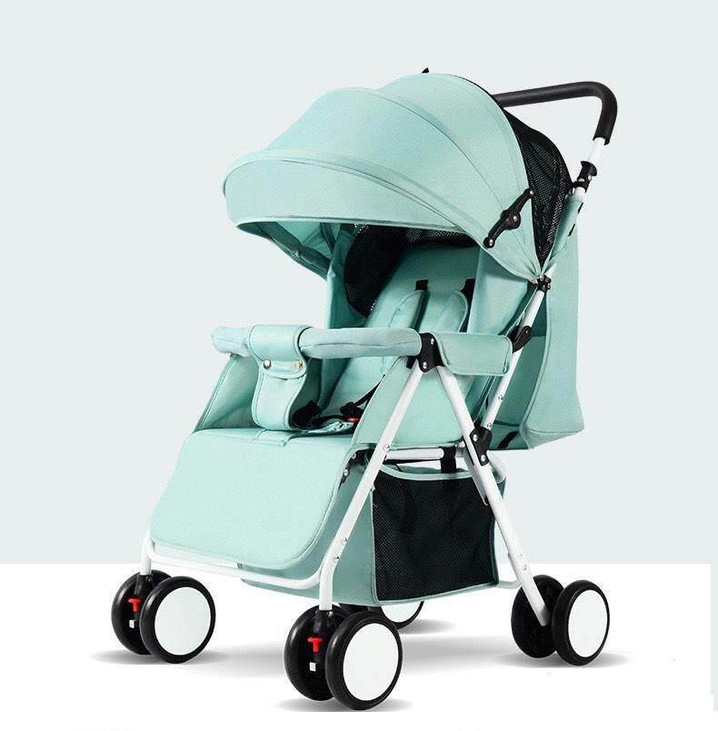 ราคา รถเข็นเด็กทารกสามารถพับเก็บได้นั่งได้เท่านั้นน้ำหนักเบามีมุ้งแถมให้ในตัวและกันแดดที่ปรับได้ถึง3ระดับ รถสี่หล้อสำหรับเด็กทารกแรกเกิด