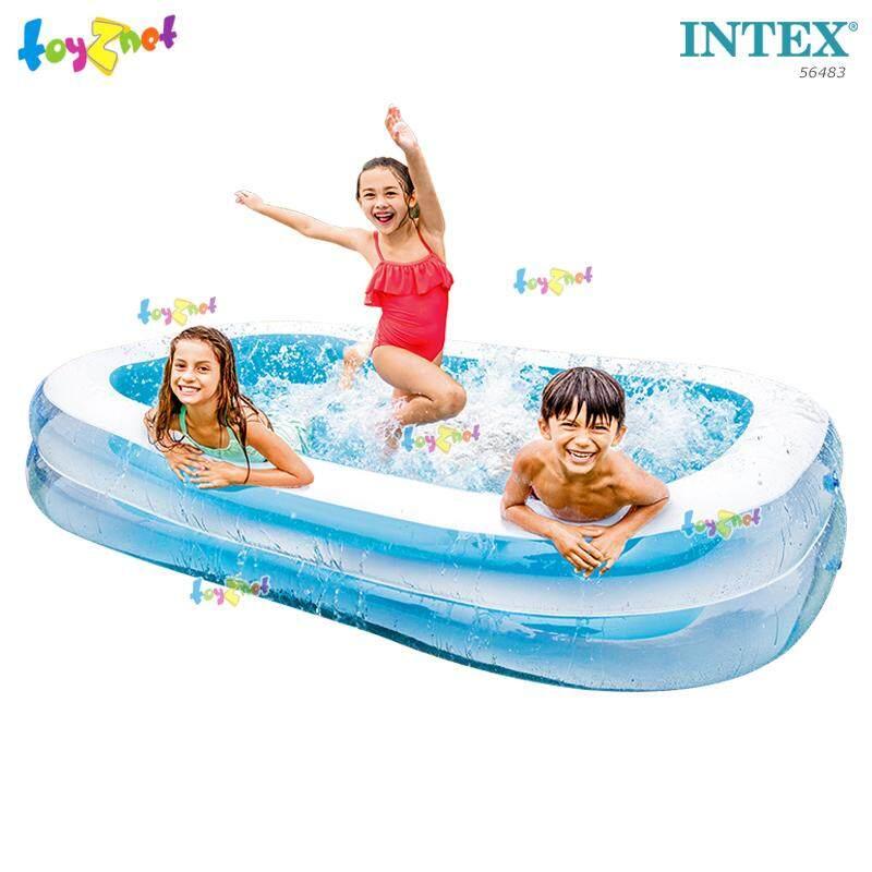 Intex ส่งฟรี สีใหม่ สระน้ำเป่าลม สี่เหลี่ยม แฟมิลี่ 2.62x1.75x0.56 ม. รุ่น 56483 By Suriyong Trading Ltd., Part..