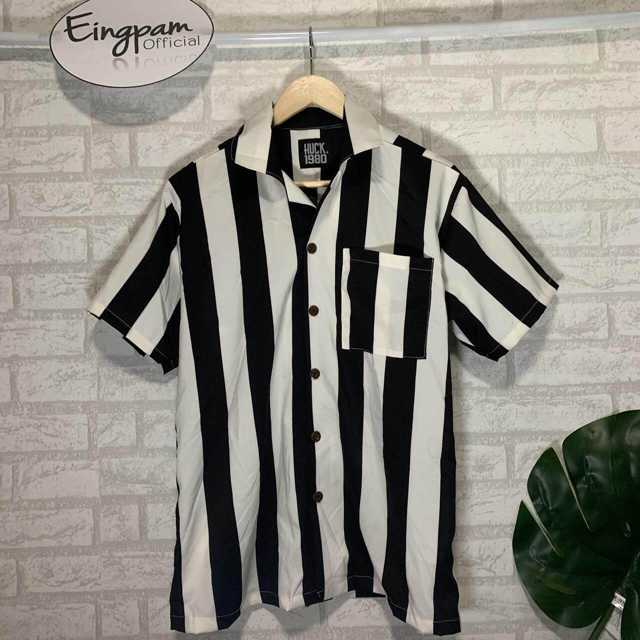 เสื้อฮาวาย เสื้อเชิ้ตลายทาง เชิ้ตเกาหลี ฮาวาย เกาหลีมาแรง By Eingpam