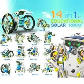 ของเล่นพลังงานแสงอาทิตย์ 14 in 1 Solar Powered DIY Model Robot Educational Toy Kit
