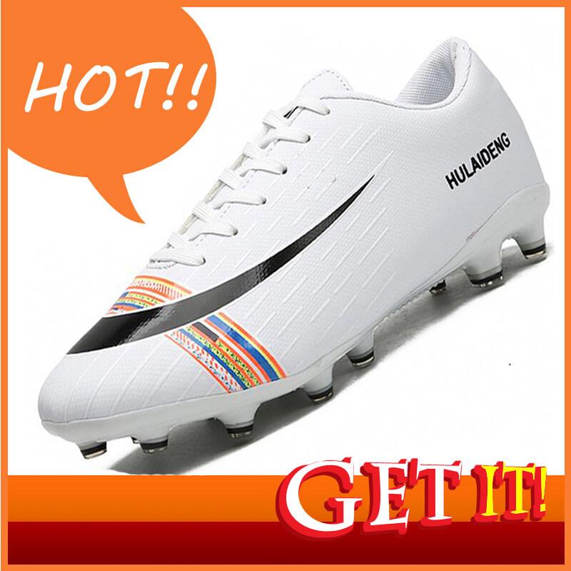 (กษัตริย์รองเท้า) รองเท้าระเบิดรองเท้าผู้ชาย Croco ช่วยเหลือรองเท้าฟุตบอลแฟชั่น AG เล็บยาวลื่นลื่นระบายอากาศการแข่งขันกลางแจ้งเฉพาะห้ารองเท้าฟุตบอลน้ำ 38-45