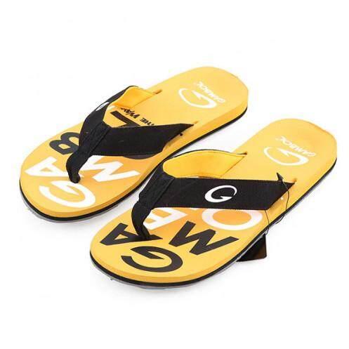 แกมโบล รองเท้าแตะสตรี รุ่น GW11317 สีเหลือง ขนาด 38