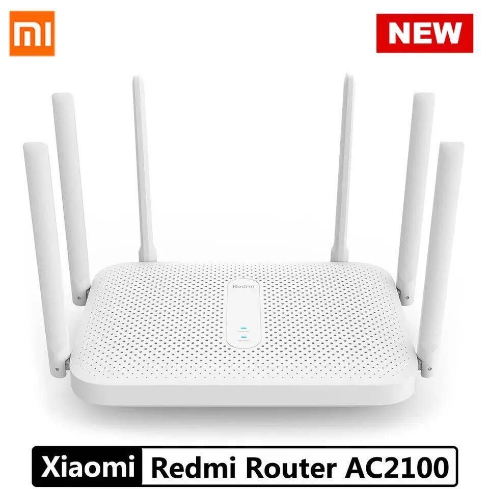 Xiaomi Redmi Ac2100 Router Gigabit 2.4g 5.0ghz Dual-Band 2033mbps Wireless Router Wifi Repeater With 6 High Gain Antennas Wider.