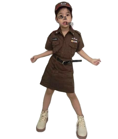 matches fashion shop ชุดตำรวจแฟชั่น เด็กหญิง น่ารักน่าชัง เหมาะสำหรับหนูน้อยวัย 0-5 ปี