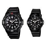 โปรโมชั่น Casio Standard นาฬิกาข้อมือคู่ สายเรซิ่น รุ่น Mrw 200H 1B Wo สีดำ
