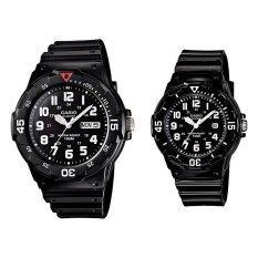 ซื้อ Casio Standard นาฬิกาข้อมือคู่ สายเรซิ่น รุ่น Mrw 200H 1B Wo สีดำ ใหม่