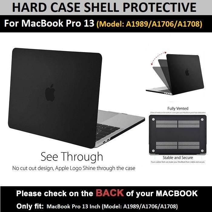 Qcase - เคสสัมผัสนุ่ม เคสป้องกันรอย สำหรับ Macbook Pro 13 Inch (model: A1989/a1706/a1708) - Hard Case Shell For Macbook Pro 13 Inch (model: A1989/a1706/a1708) By Qcase.