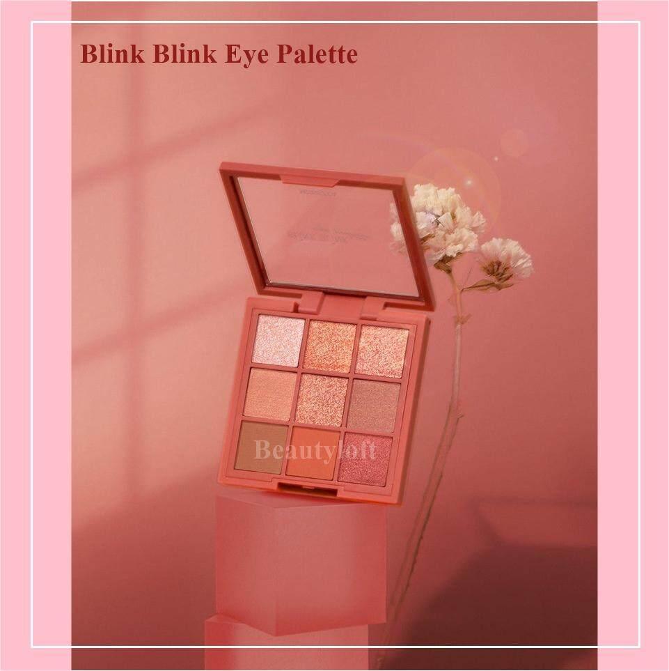 Merrezca Blink Blink Eye Palette พาเรท อายแชโดว์ สีสันโดดเด่น เปล่งประกาย ติดทนนาน 1ตลับ มี 9