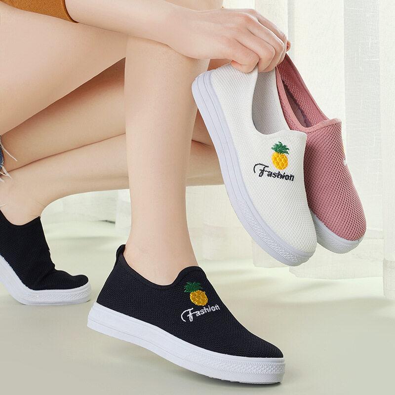 ส่งเร็ว?รองเท้าผ้า รองเท้าผู้หญิง สลิป-ออน รองเท้าแฟชั่น ยืดหยุ่นได้ดี รองเท้าเป็นทรงดี นำเข้า รองเท้ากีฬา B-052.