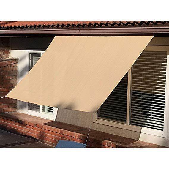 Sun Shade Mesh Canopy Awning Privacy Screen Window Cover Hot Resistant Protection Shelter 90% Uv Blocking For Gazebo Patio Garden Outdoor Greenhouse Flower Barn Kennel Fence Beige By Minervas Gate.