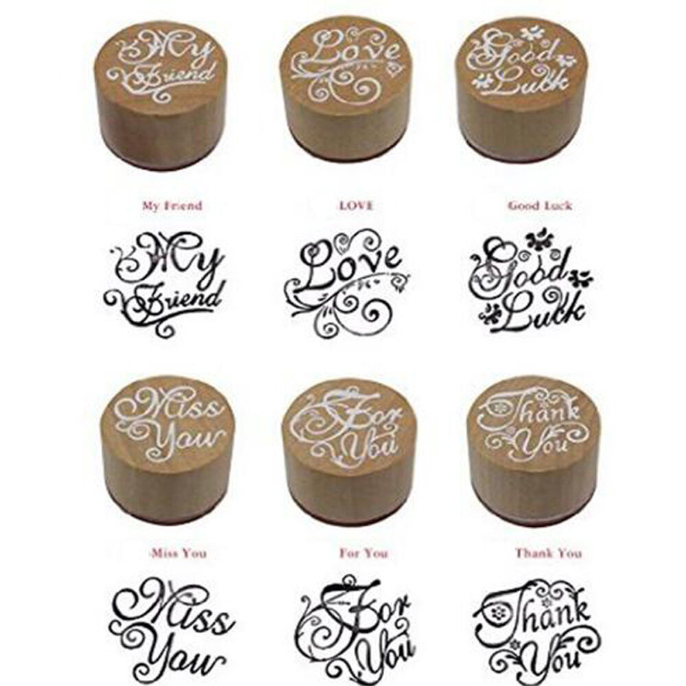 Thank you pattern wooden stamp