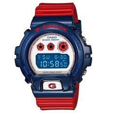 ขาย Casio G Shock นาฬิกาข้อมือ รุ่น Dw 6900Ac 2A สีฟ้า แดง Casio G Shock ออนไลน์