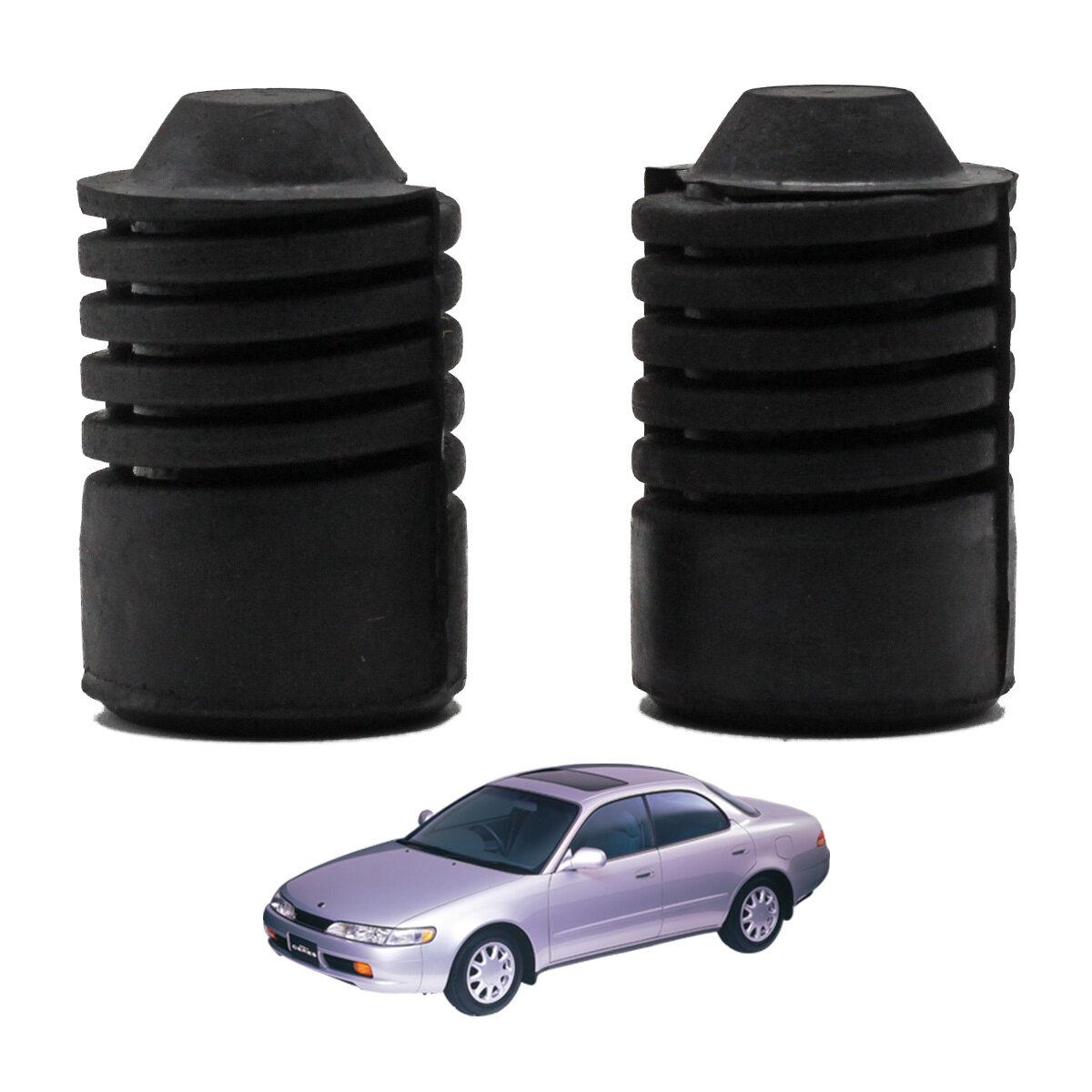 ยางรองฝากระโปรงหน้า สีดำ จำนวน 2ชิ้น ซ้ายและขวา Toyota Corolla  Ae100 Ae101 Ee100 โตโยต้า โคโรล่า 4ประตู ปี 1993-1998 รถเก๋ง  สินค้าราคาถูก คุณภาพดี  Front Hood Rubber.