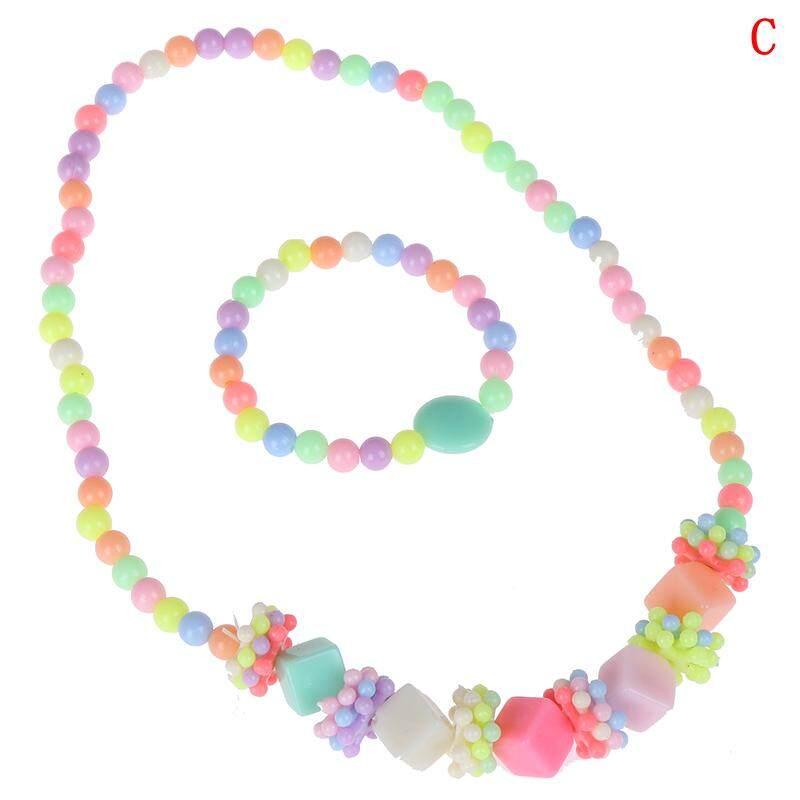 Giá bán Họa tiết hoa duyên dáng 1 Con Hạt Vòng Cổ Nhiều Màu Bé Gái Bubblegum Handmade Cho Đồ Chơi Trẻ Em MỘT