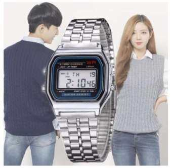 LED Digital Waterproof Quartz Wrist Watch Dress Golden Wrist Watch Women Men watch