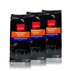 ขาย เมล็ดกาแฟคั่ว Aroma Executive Blend ซองบรรจุ 250 กรัม 3 ซอง ออนไลน์ ใน กรุงเทพมหานคร