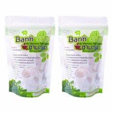 ราคา Bann Cha ชามะรุม บ้านชา ชาเพื่อสุขภาพ ลดน้ำหนัก จากมะรุมธรรมชาติแท้ ขนาด 90กรัม จำนวน 2 ห่อ เป็นต้นฉบับ