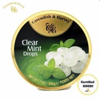CavendishHarvey Clear Mint Drops 200gลูกอมรสมิ้นต์ ขนาด 200 กรัม 1 กระปุก