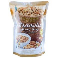 Diamond Grains Almond Granola ซีเรียลกราโนล่า ผสมอัลมอนด์ 220กรัม.