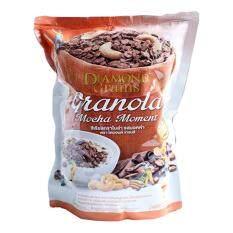 Diamond Grains Mocha Granola ซีเรียลกราโนล่า รสมอคค่า 220กรัม.
