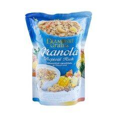 Diamond Grains Tropical Rich Granola ซีเรียลกราโนล่า รสผลไม้อบแห้ง 220g..