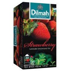 ราคา Dilmah Strawberry Tea ดิลมาสตอเบอรรี่ ชาศรีลังกา 2กรัม 20ซอง กรุงเทพมหานคร