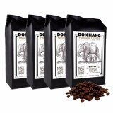 ขาย Doichang Premium Coffee เมล็ดกาแฟดอยช้าง อาราบิก้า คั่วเข้ม 4ถุง 1000G ถูก