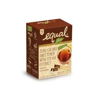 Equal อิควล สารให้ความหวานแทนน้ำตาลจากหญ้าหวาน 2 กรัม แพค 40ซอง(2 แพค)