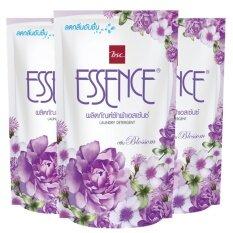 ราคา Essence น้ำยาซักผ้า เอสเซ้นซ์ กลิ่น Blossom สีม่วง ชนิดเติม 400 มล แพ็ค 3 ถุง ถูก