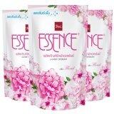 ซื้อ Essence น้ำยาซักผ้า เอสเซ้นซ์ กลิ่น Floral สีชมพู ชนิดเติม 400 มล แพ็ค 3 ถุง Essence
